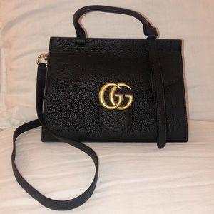 Mini black crossbody bag / purse